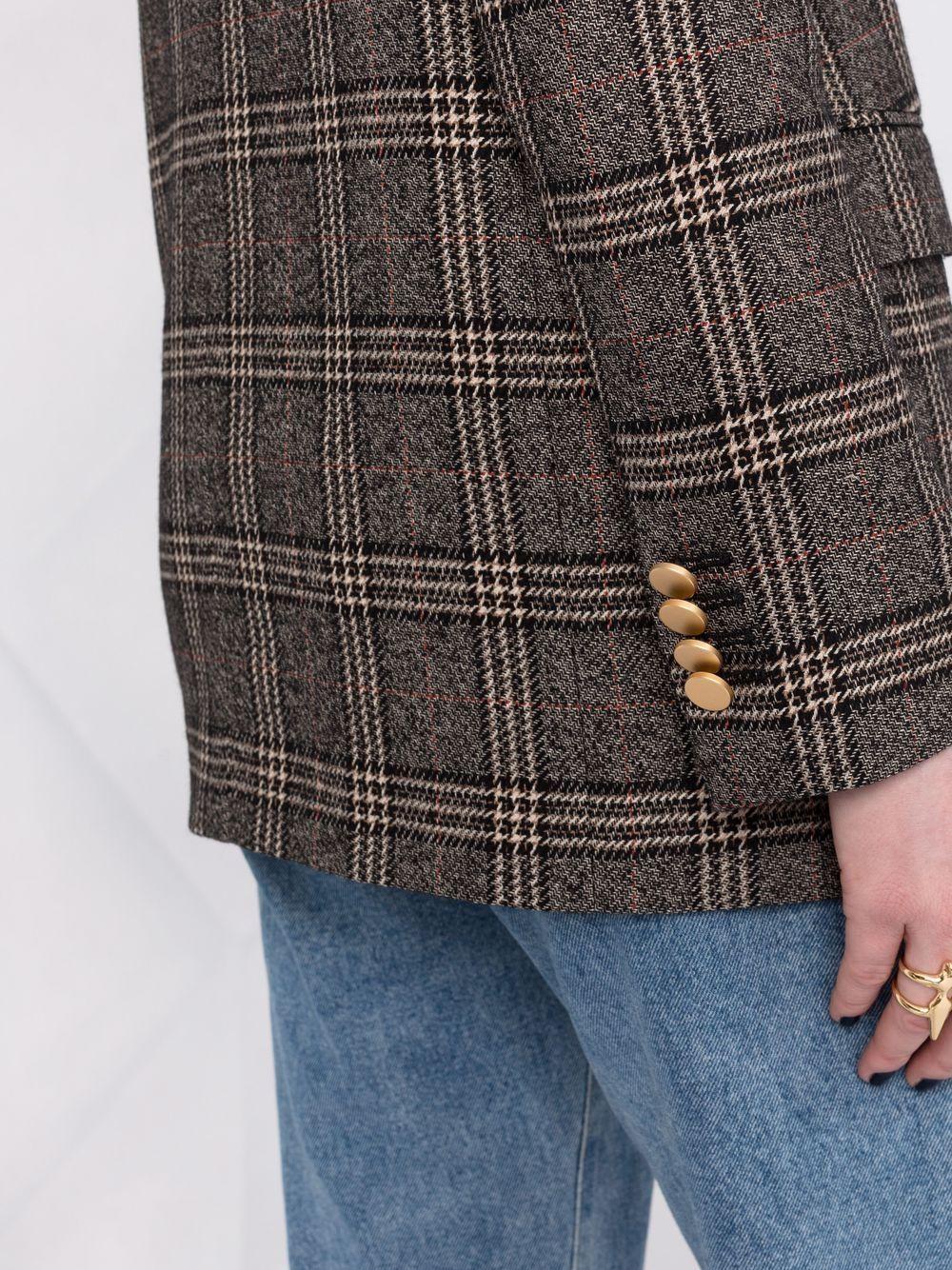 Picture of Tagliatore | Checked Double-Breasted Blazer
