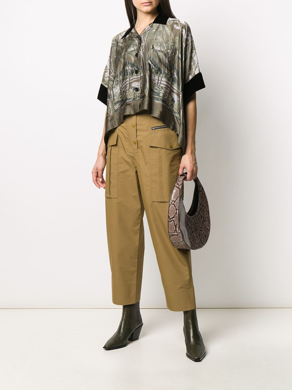 Picture of Sacai | Oversized Tropical-Print Shirt