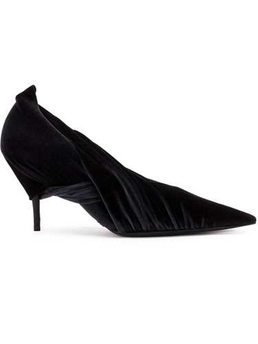 Picture of Balenciaga | Velvet Pointed Toe Pumps