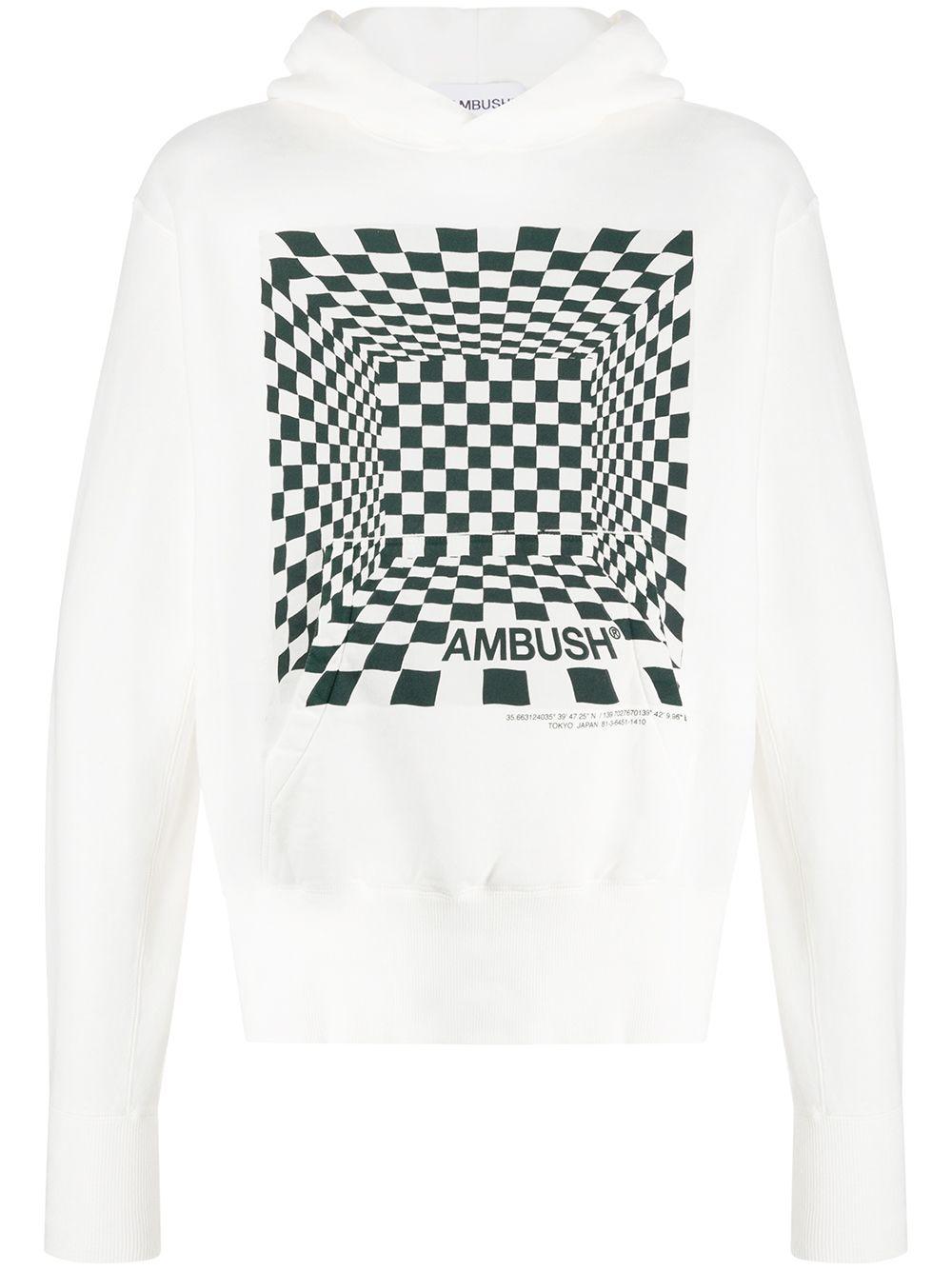 Picture of Ambush | Checkered Print Hoodie