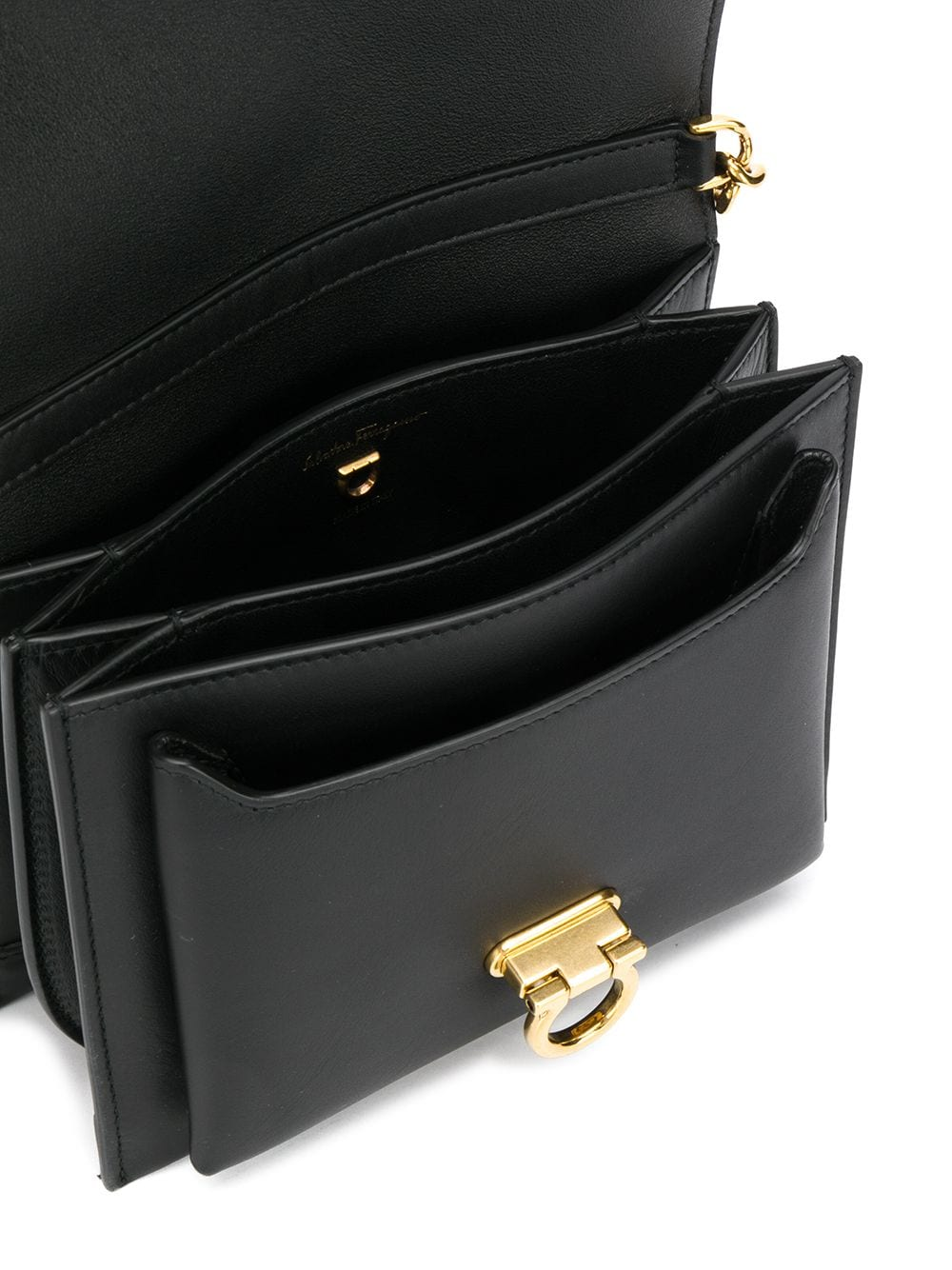 Picture of Salvatore Ferragamo   Logo Engraved Flap Shoulder Bag