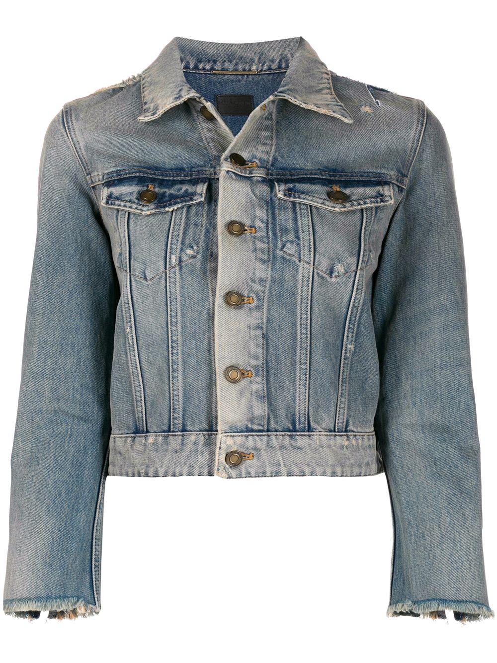 Picture of Saint Laurent | Stonewashed Denim Jacket