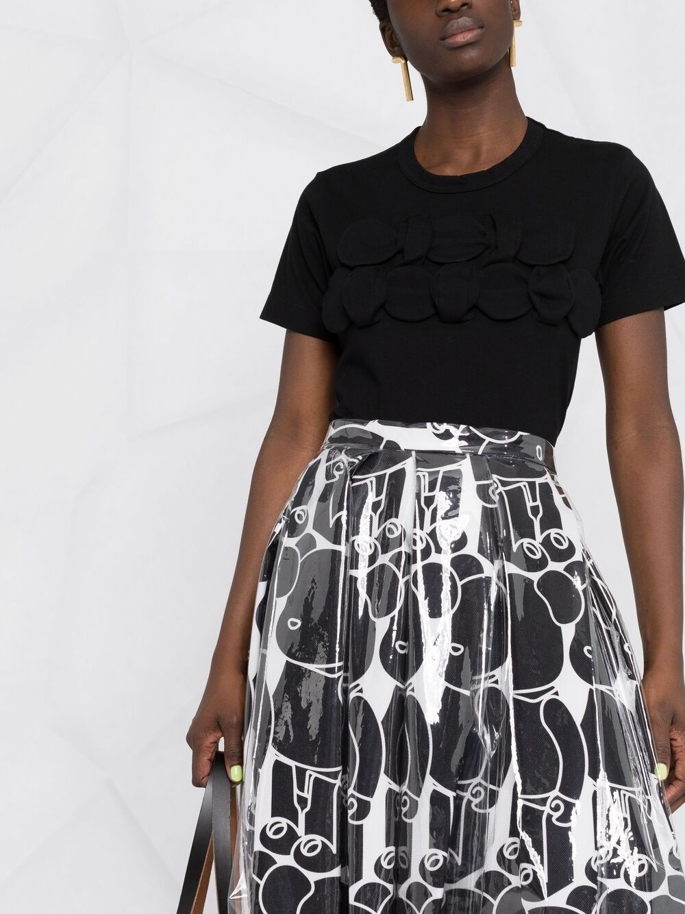 Picture of Comme Comme | Appliqué Cotton T-Shirt
