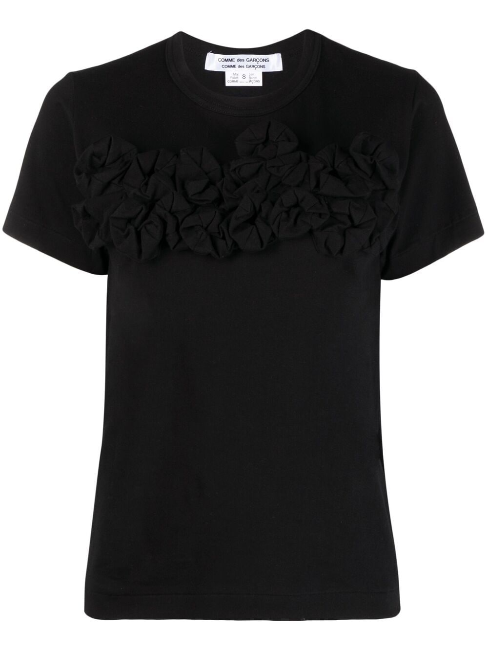 Picture of Comme Comme | Appliqué-Detail Cotton T-Shirt
