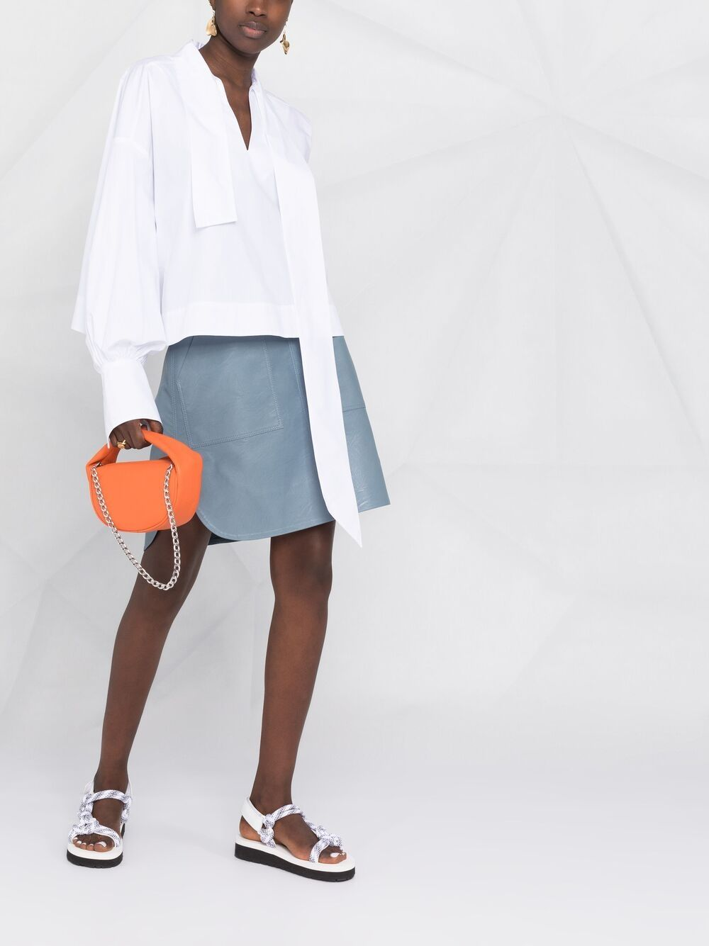 Picture of Jejia | Asymmetric Tied-Neck Blouse