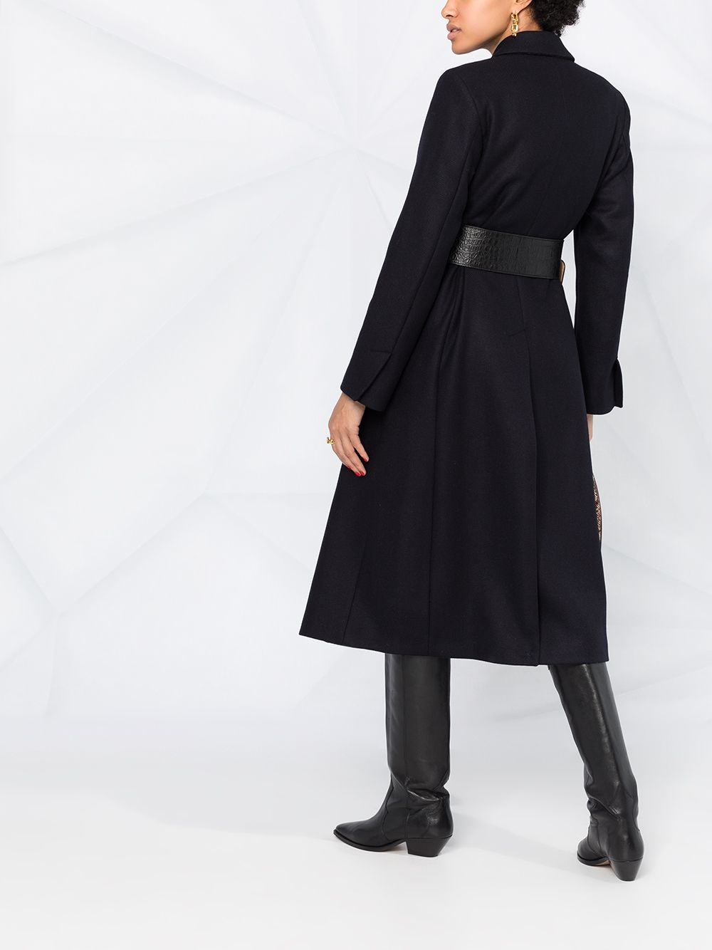 Picture of Semicouture | Double-Breasted Long Coat