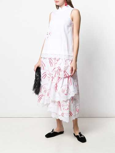 Picture of Simone Rocha | Portrait Print Vest Top