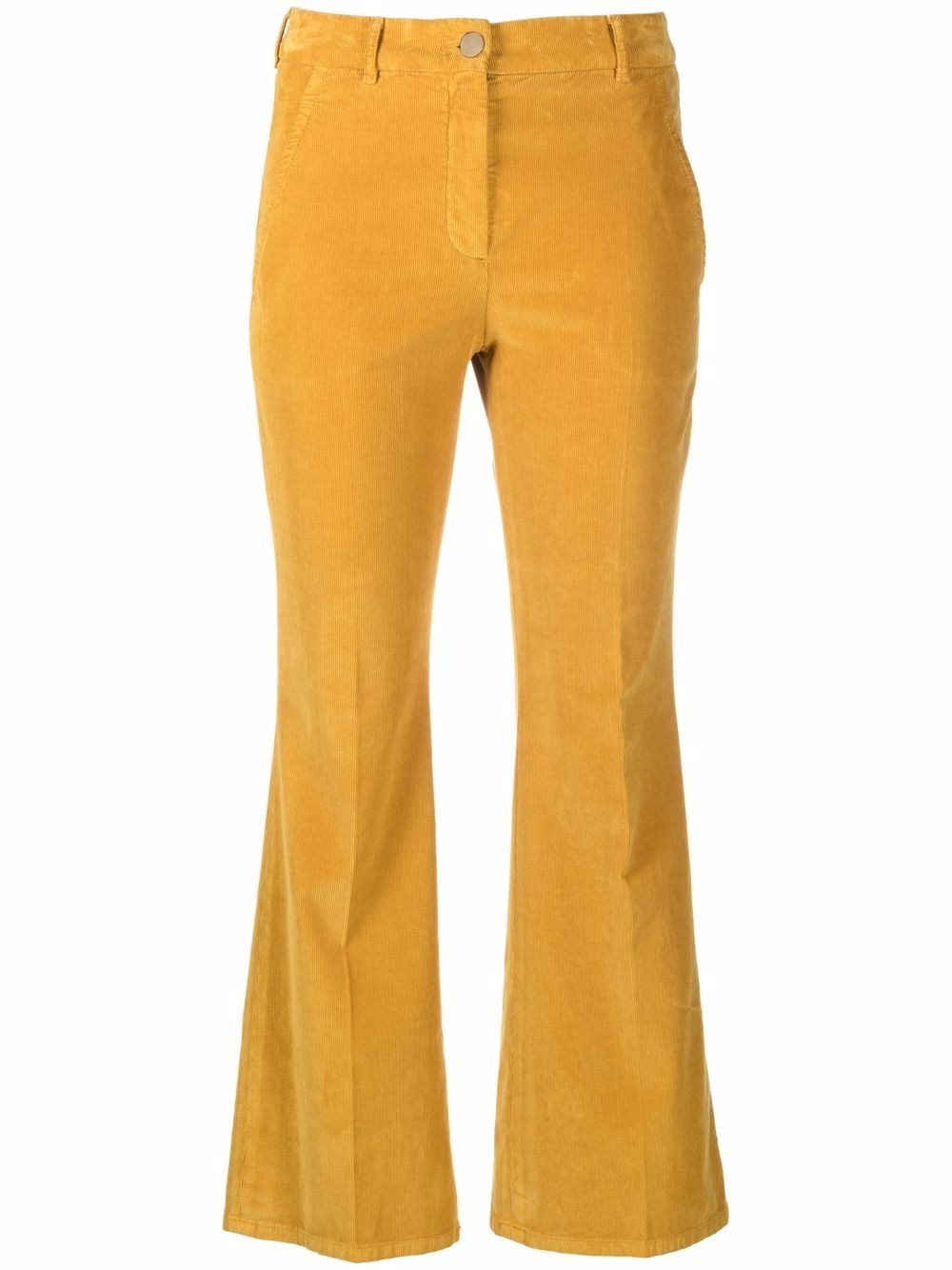 Picture of Incotex | High Waist Flared Trousers