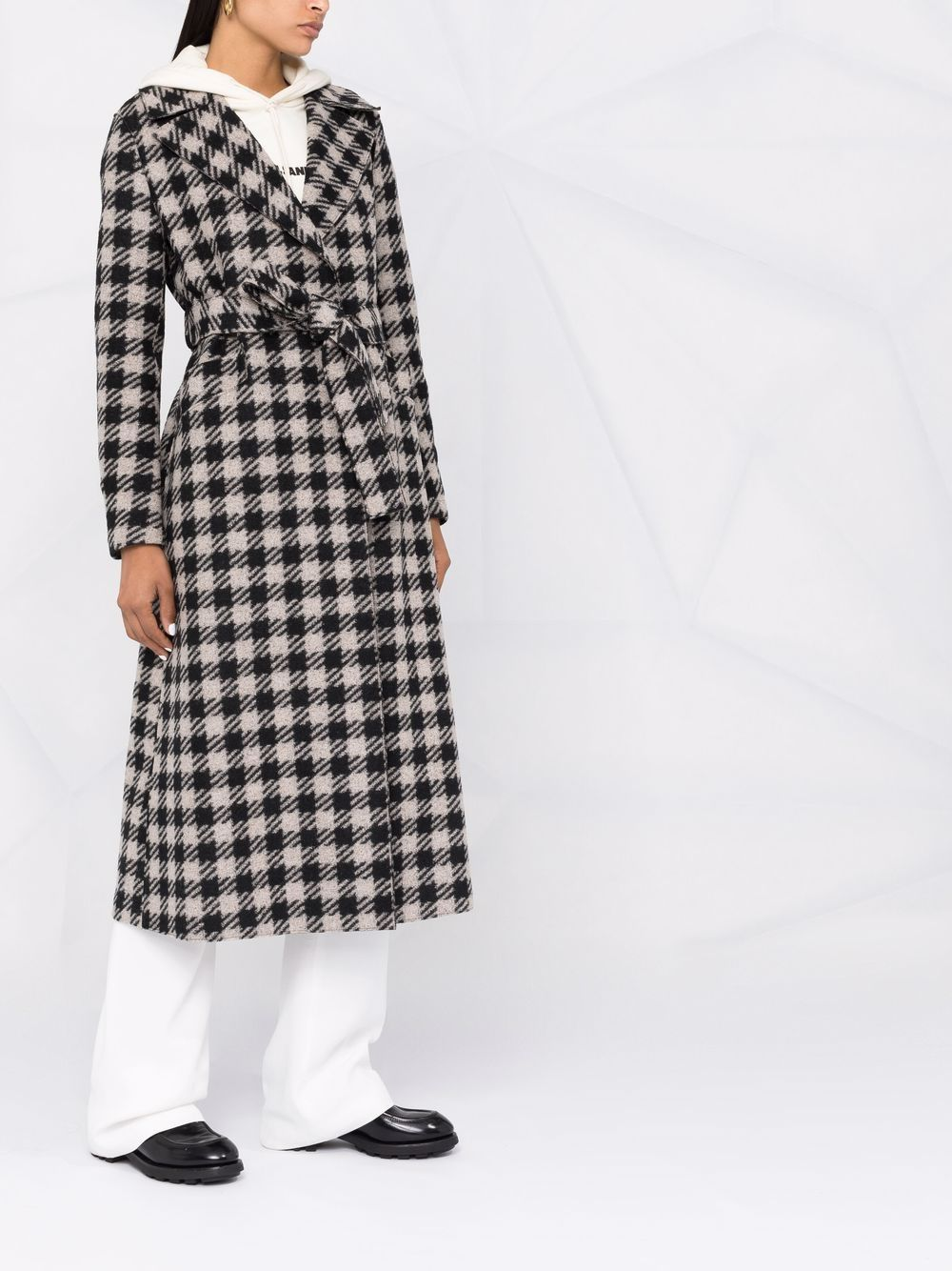 Picture of Harris Wharf London | Single-Breasted Wool Coat