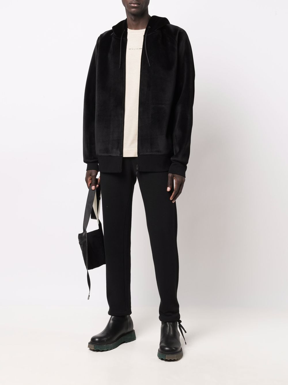 Picture of Adidas Y-3 | Velour Zip-Up Hoodie