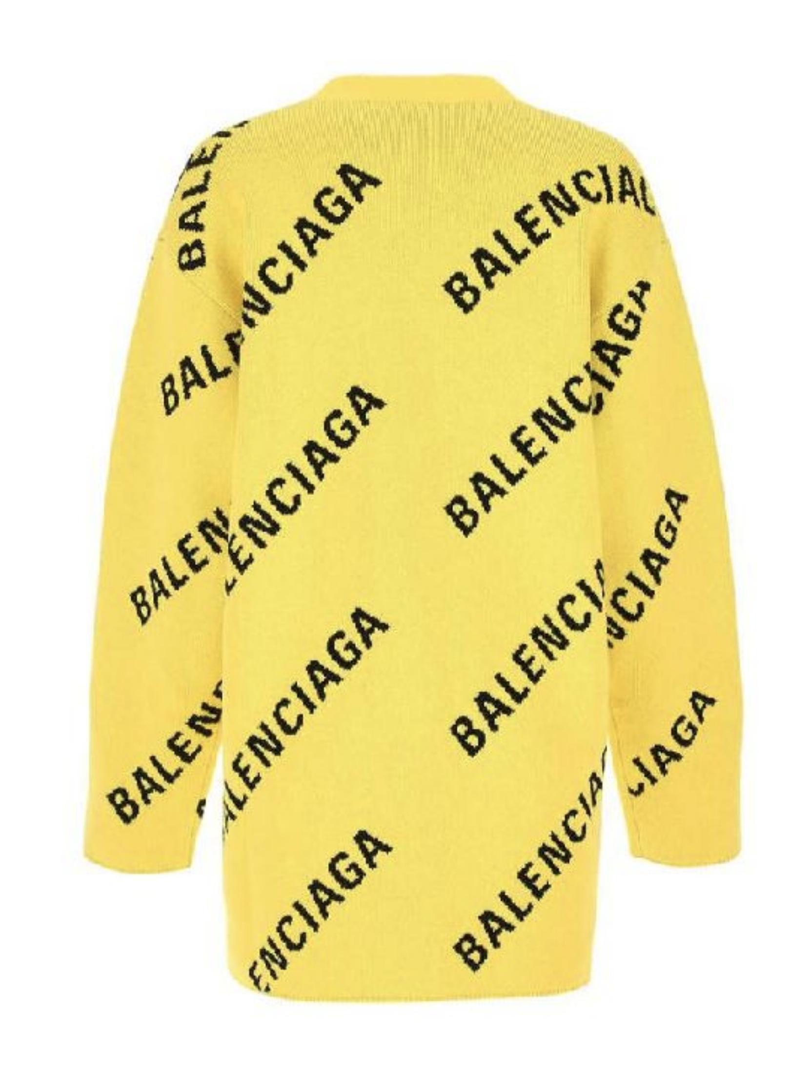 Picture of Balenciaga   Diagonal Logo Cardigan