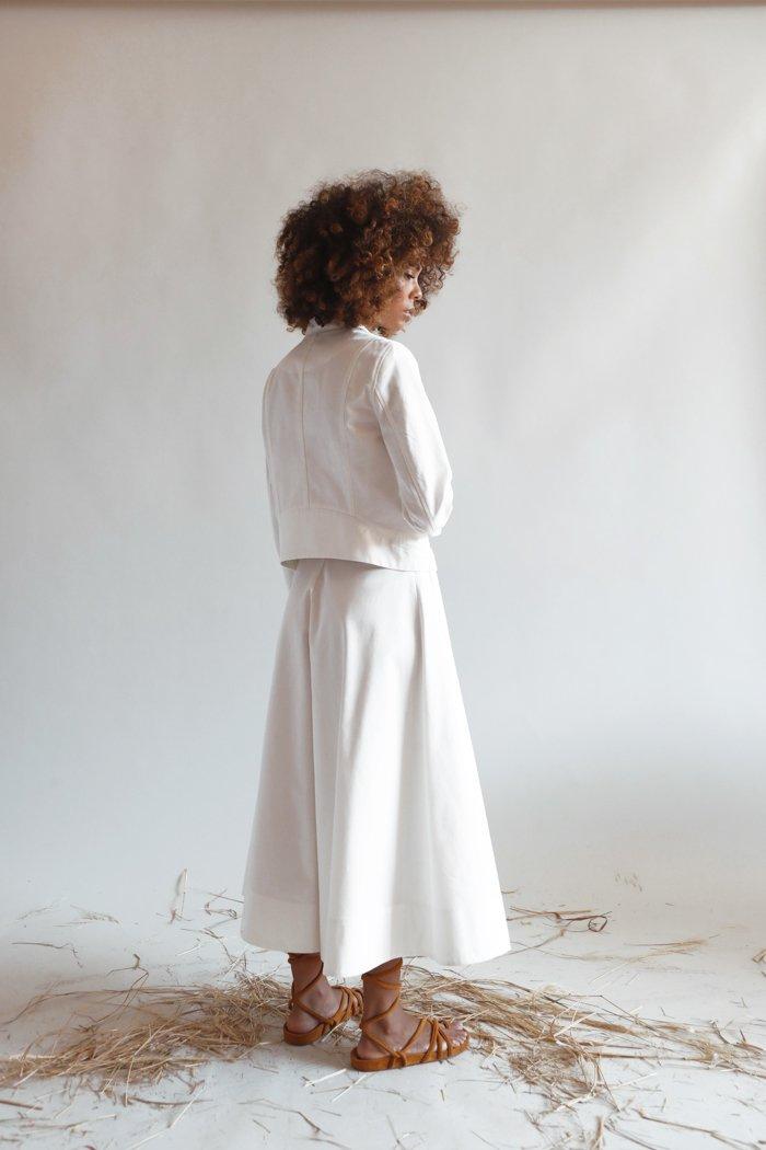 Picture of Psophia   Twill Trouser Skirt
