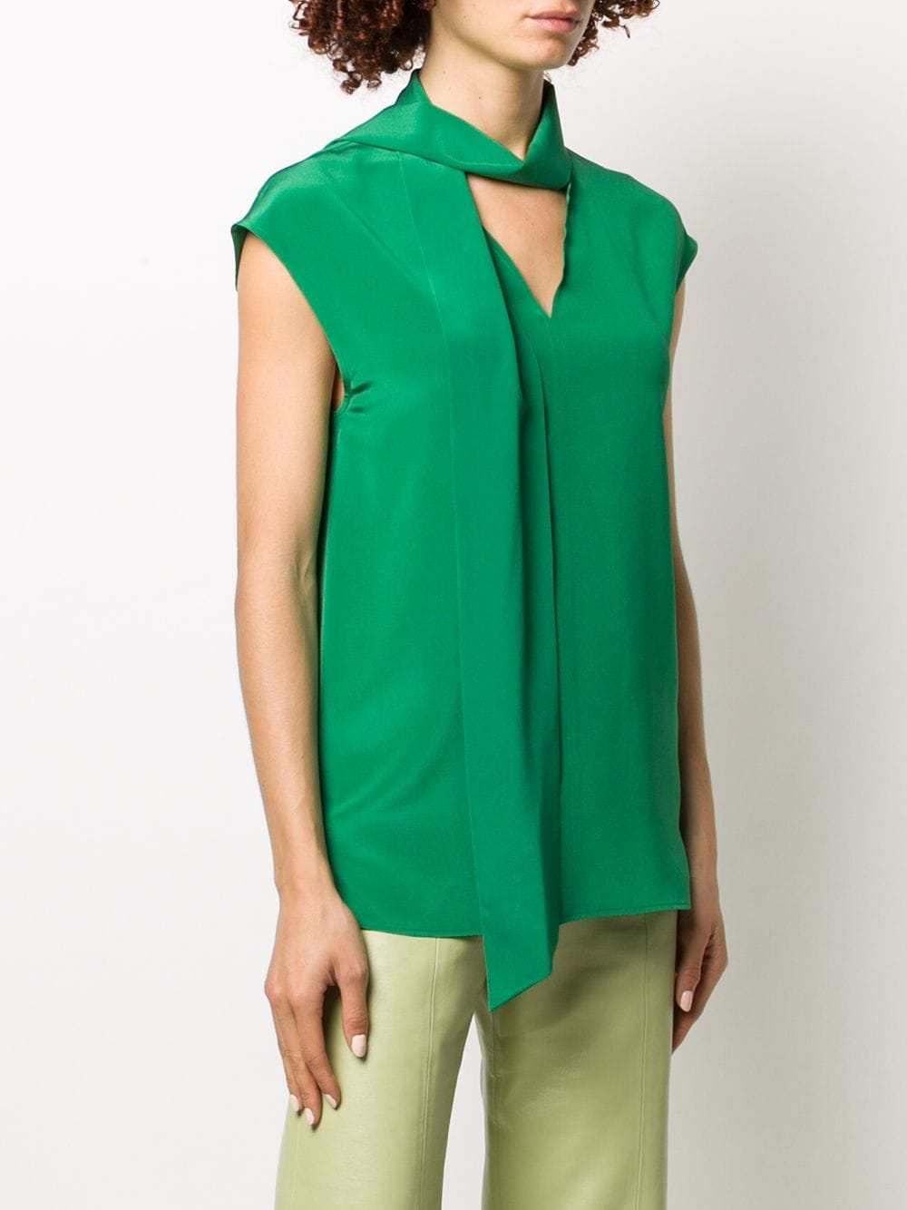 Picture of Joseph | Nancy Silk Tie-Neck Blouse