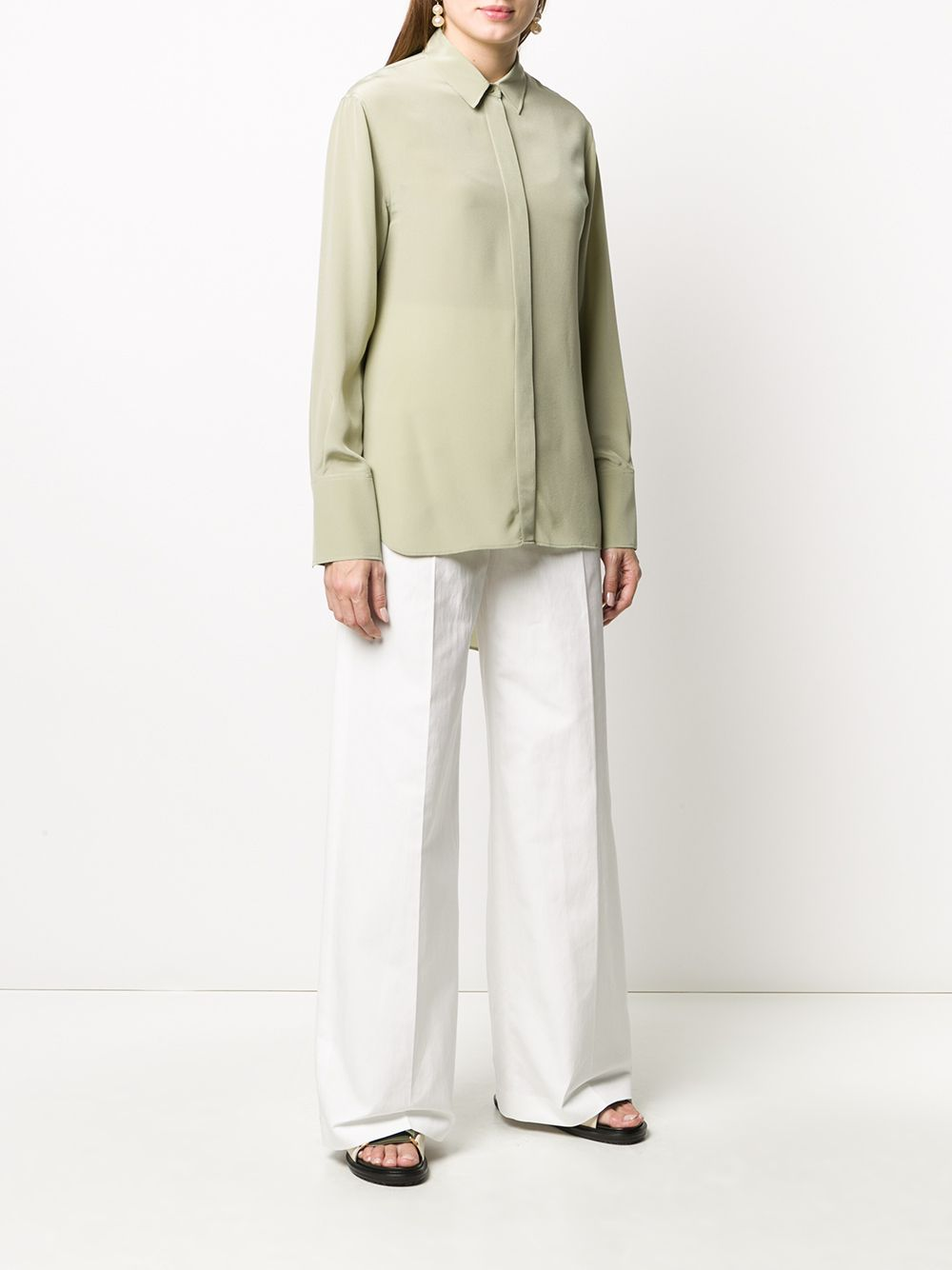 Picture of Joseph | Silk Long-Sleeve Blouse