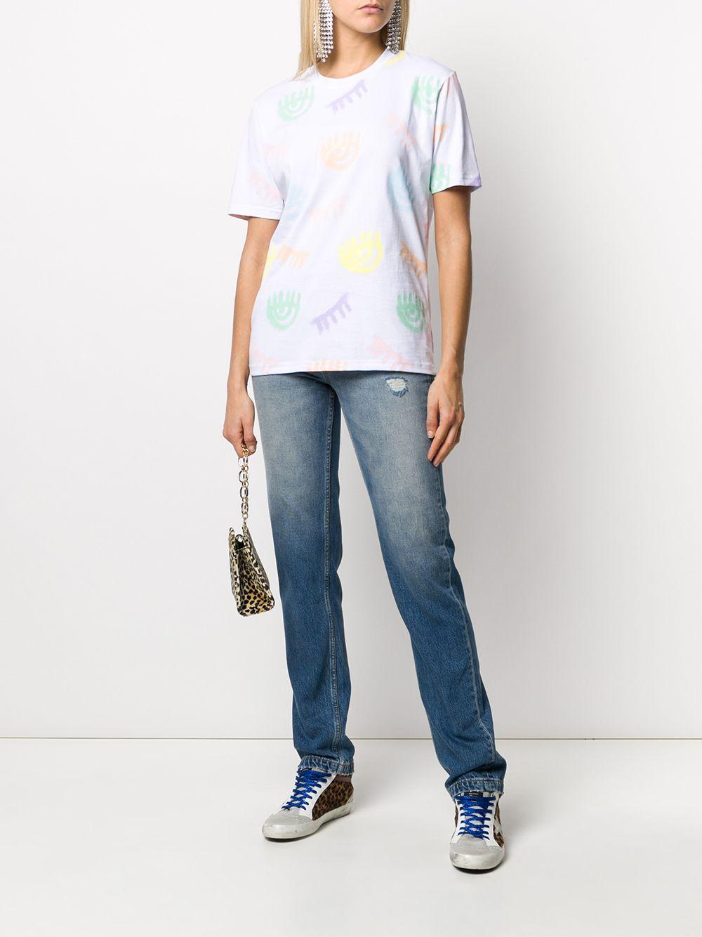 Picture of Chiara Ferragni | Flirting Print Crewneck T-Shirt