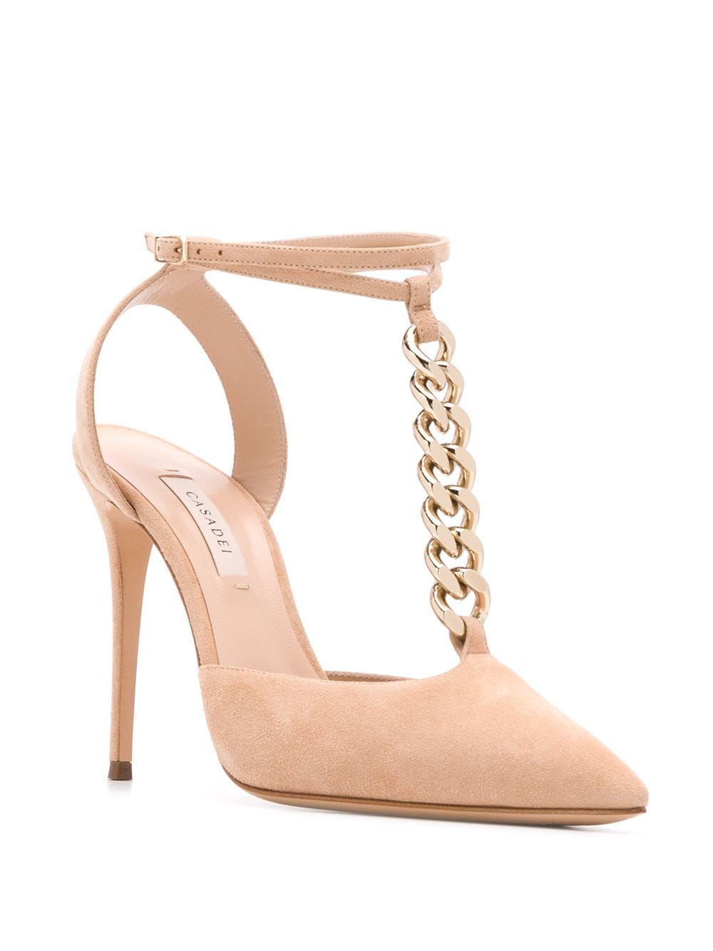 Picture of Casadei | Chain-Detail Pointed Pumps