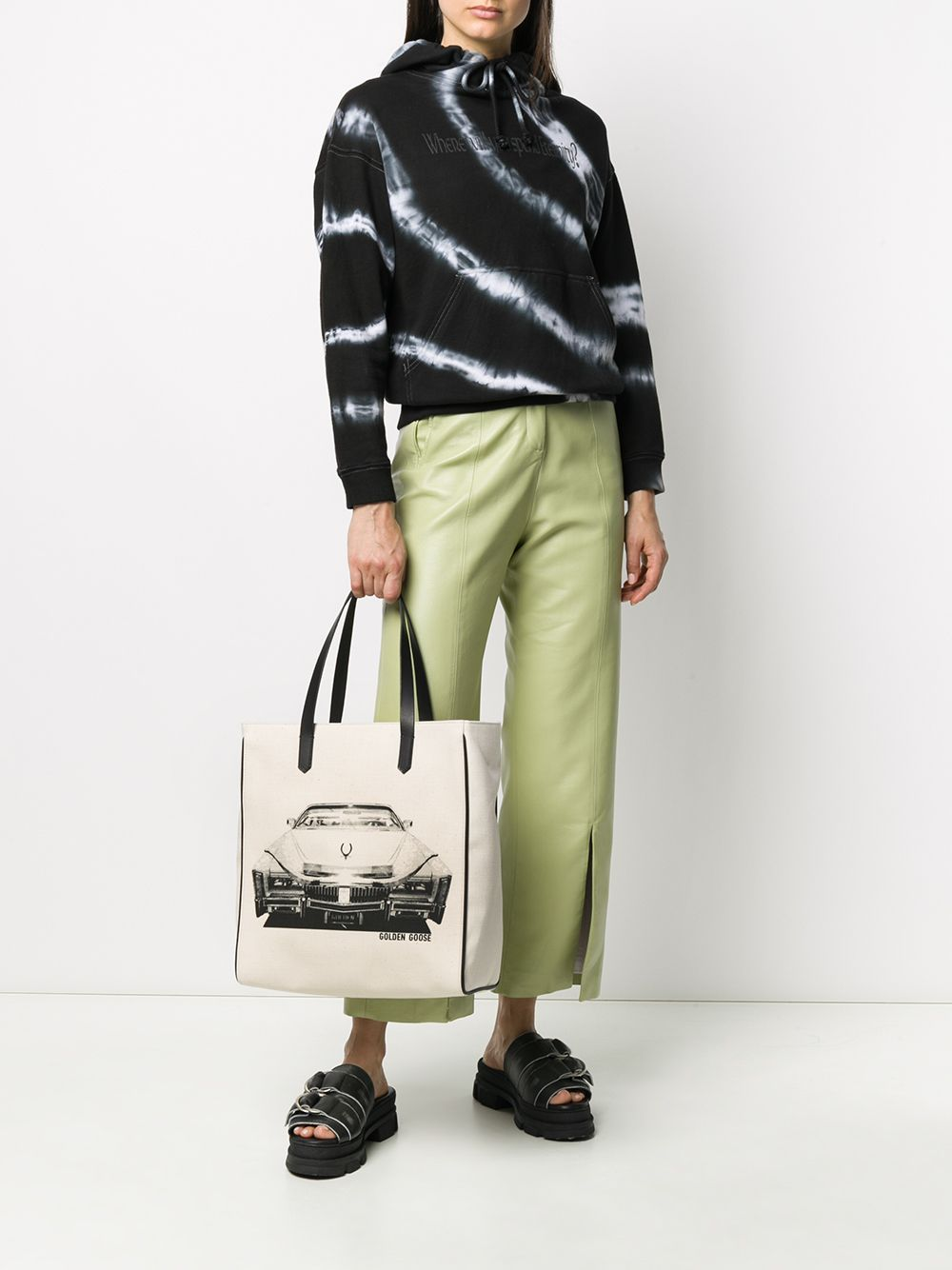 Picture of Golden Goose Deluxe Brand | Slogan Print Canvas Tote