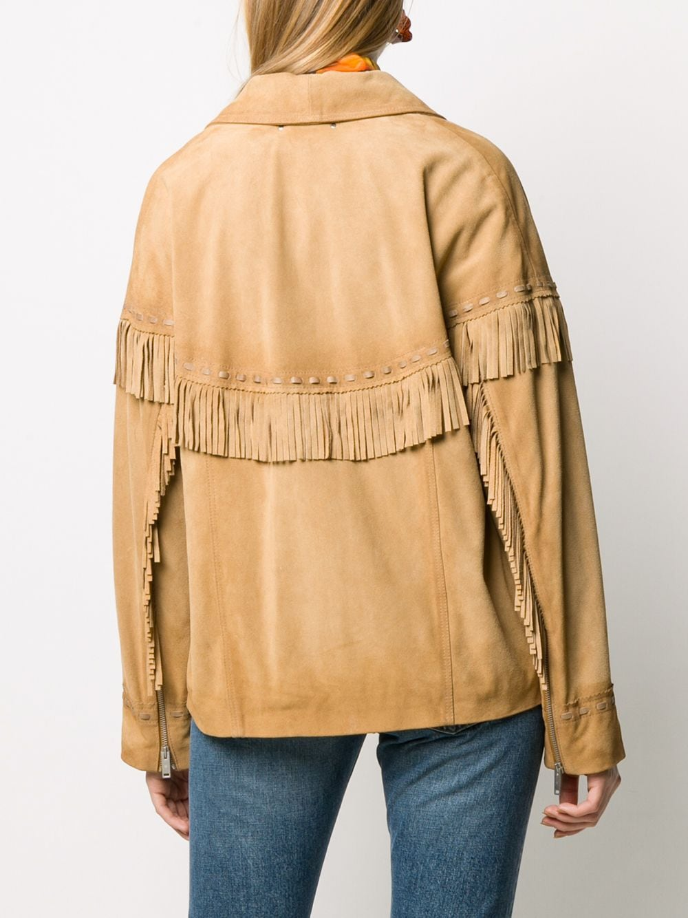 Picture of Golden Goose Deluxe Brand | Ayumi Fringed Jacket