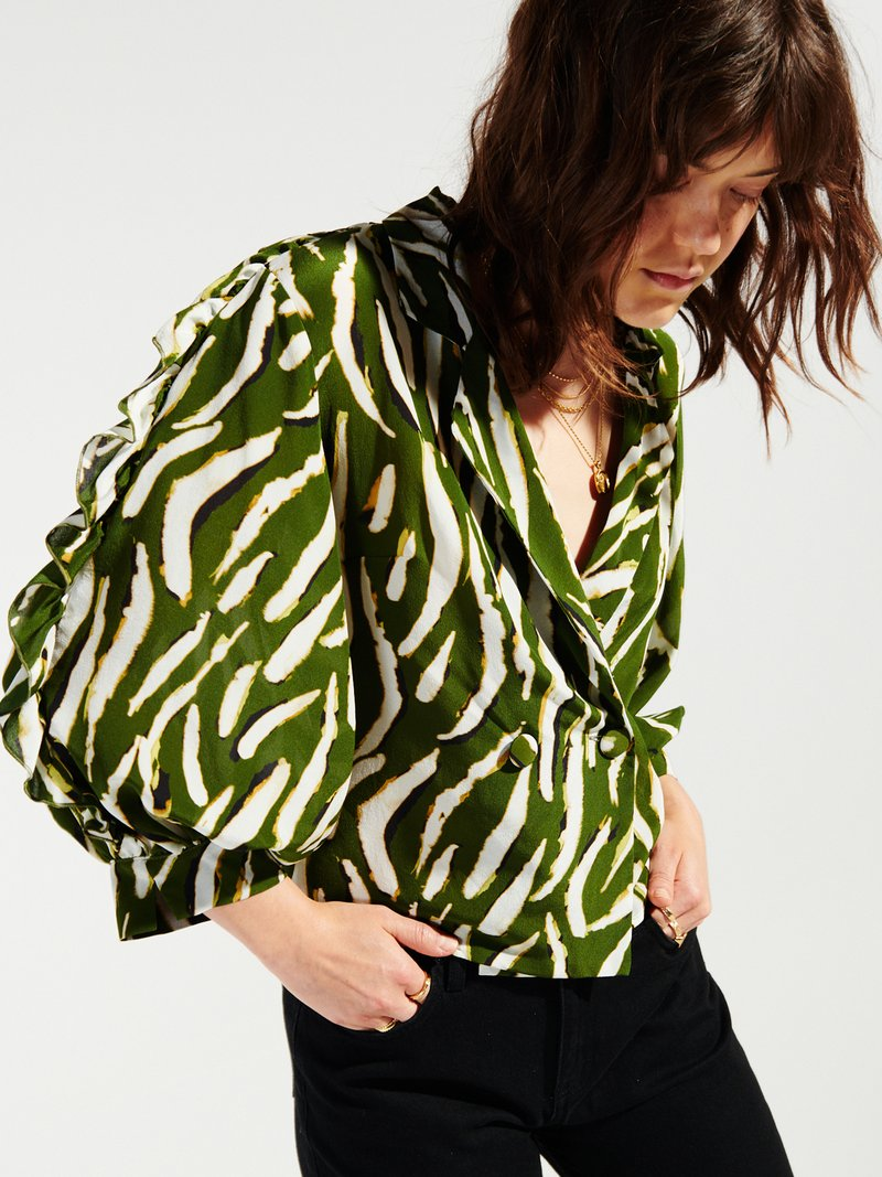 Picture of Hayley Menzies | Shimmering Water Tiger Tux Shirt