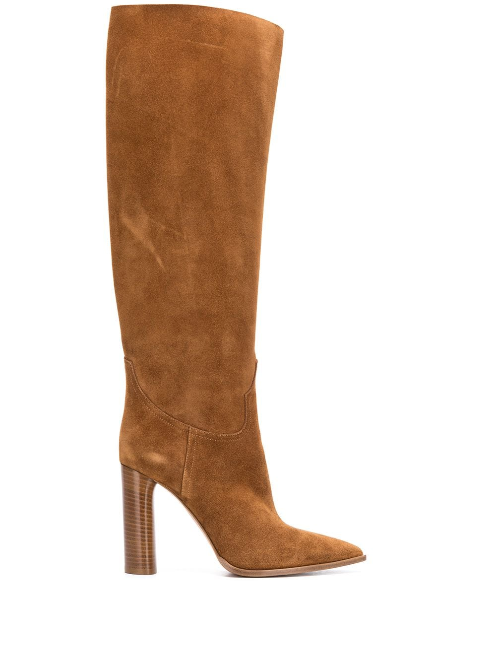 Picture of Casadei | Pointed Toe Knee-High Boots