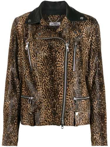 Picture of Desa 1972 | Leopard-Print Biker Jacket