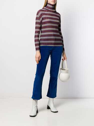 Picture of Issey Miyake Pleats Please | Micro-Pleated Striped Top