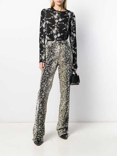 Picture of Giambattista Valli | Python Print Kick Flares
