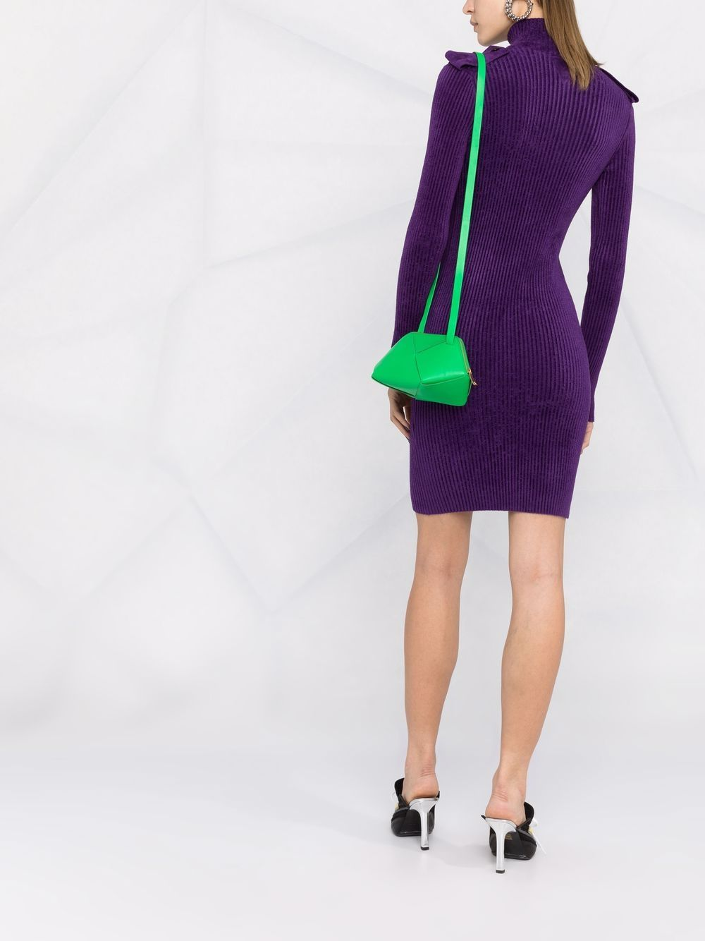 Picture of Bottega Veneta | Ribbed-Knit Softly-Textured Mini Dress