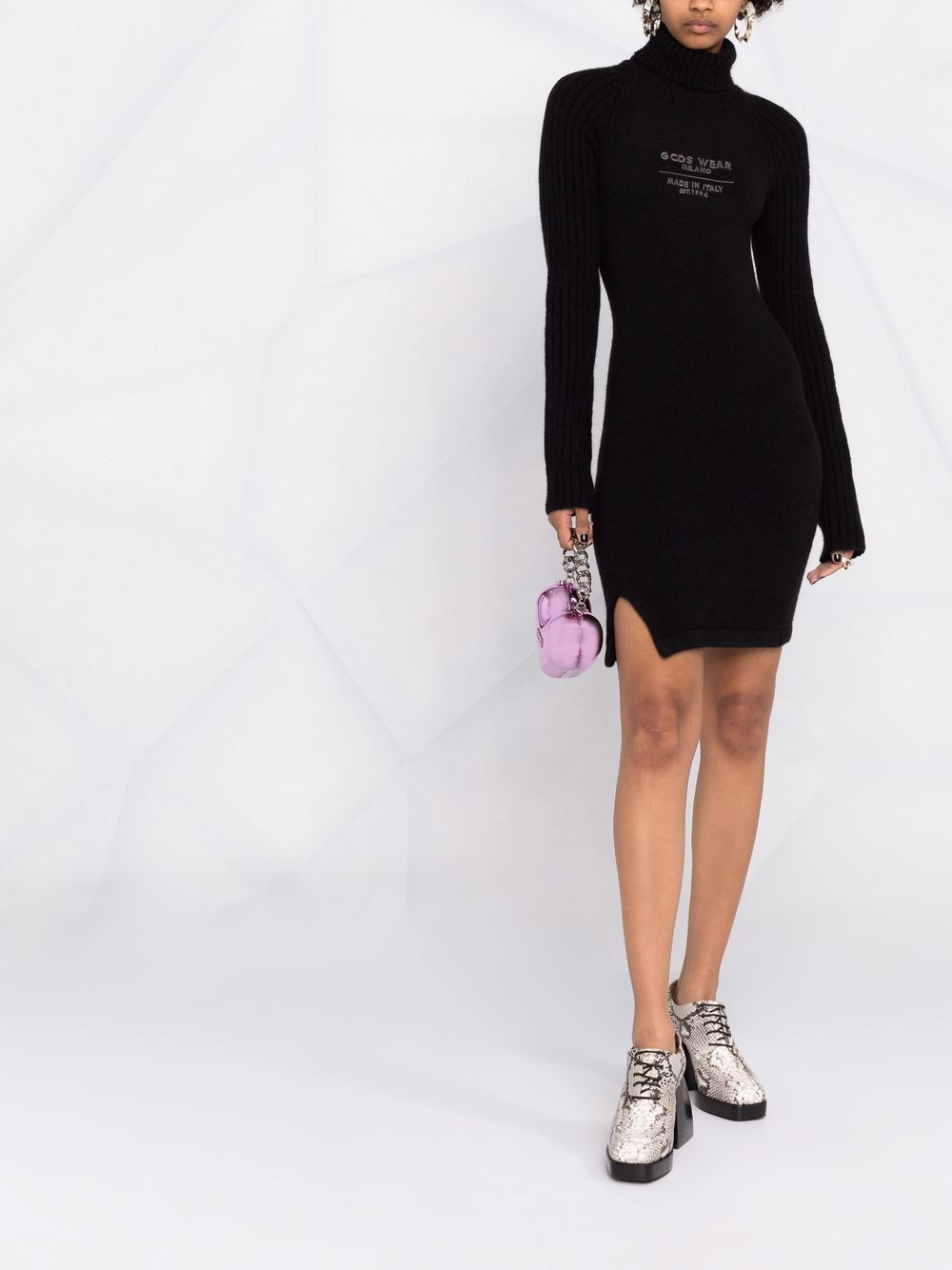 Picture of Gcds | Embroidered Logo Knit Dress