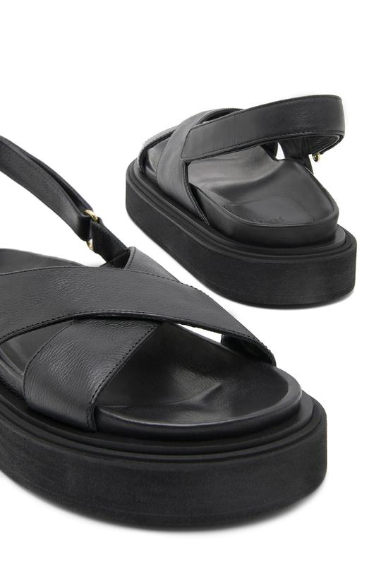 Picture of Hazy | Rita Leather Platform Criss-Cross Sandal