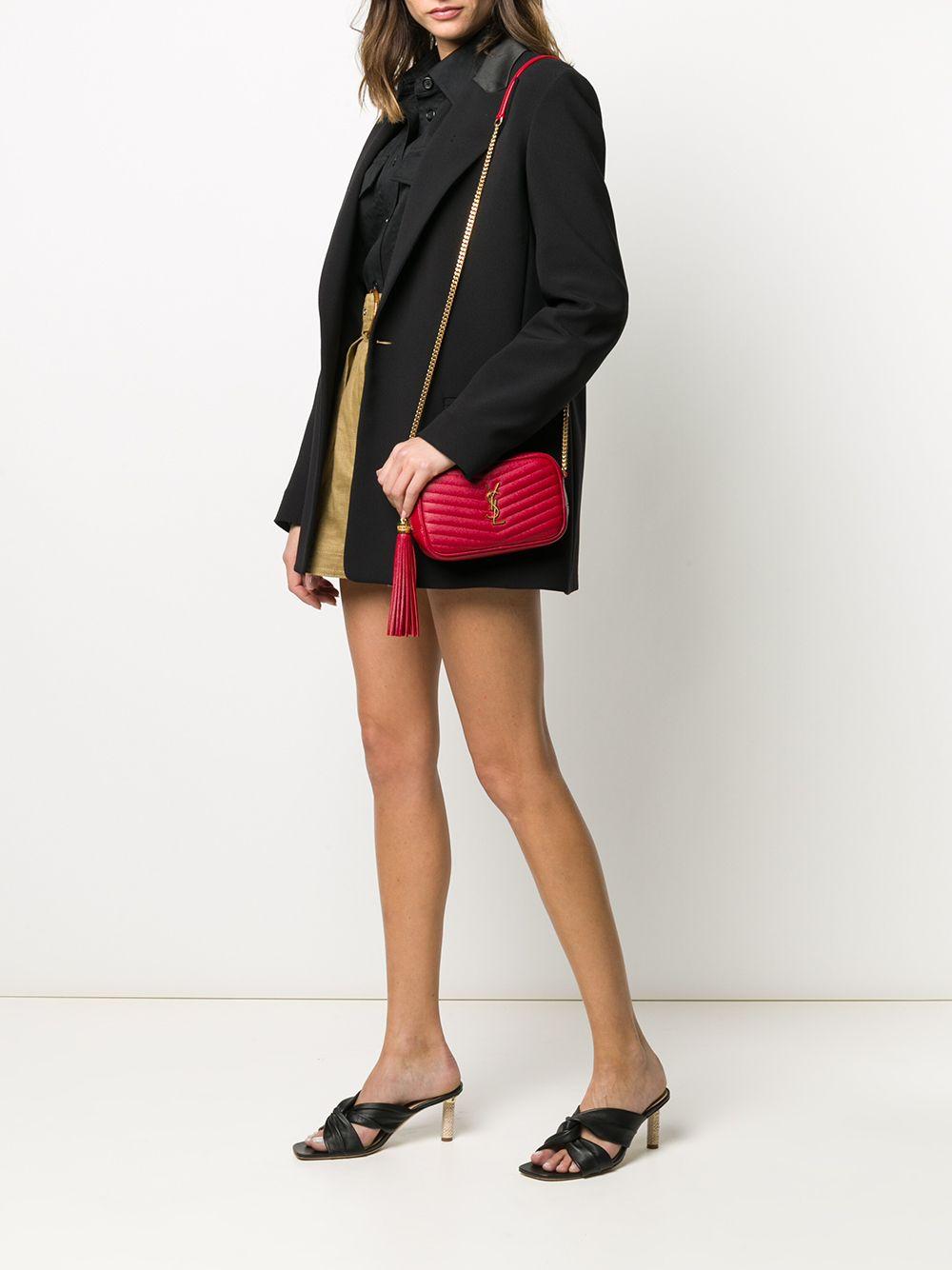 Picture of Saint Laurent | Quilted Monogram Shoulder Bag