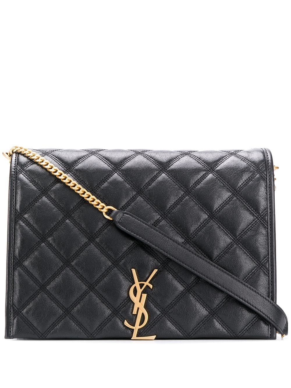 Picture of Saint Laurent | Large Becky Chain Shoulder Bag