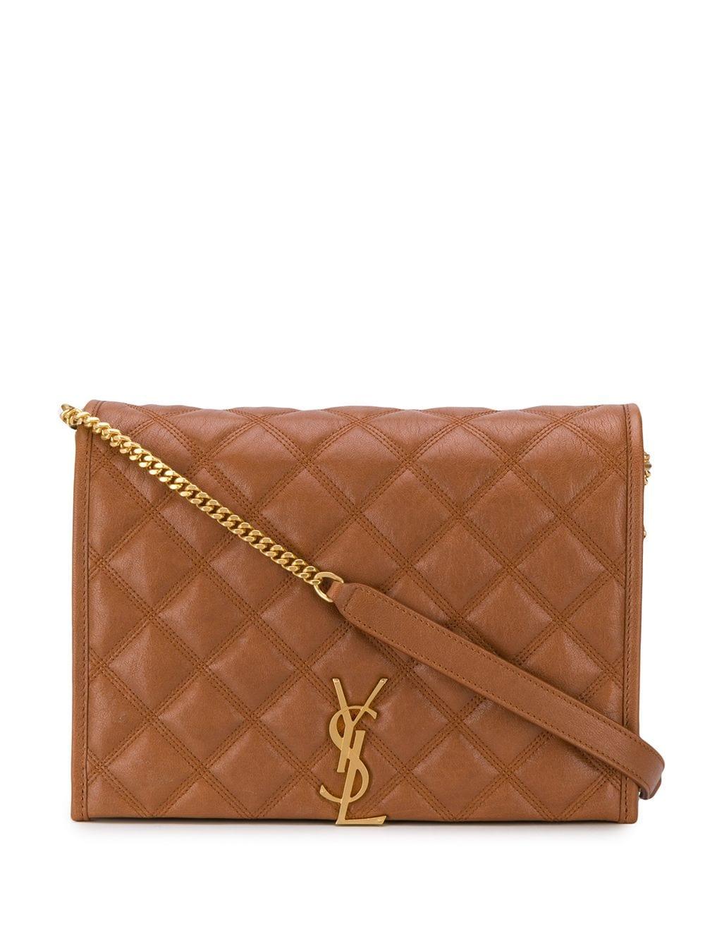 Picture of Saint Laurent | Large Becky Chain Shoulder Bag