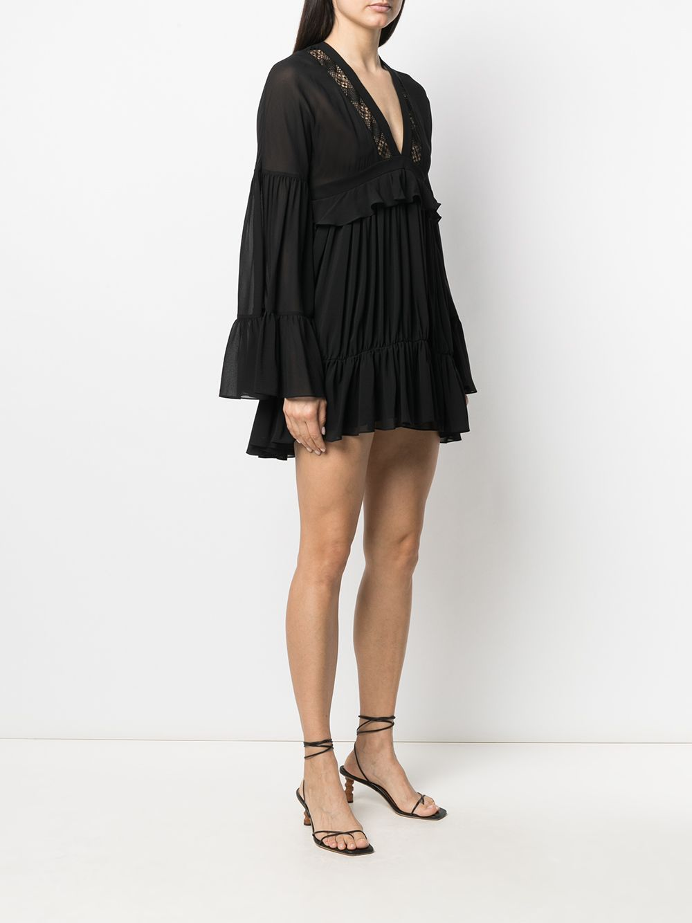 Picture of Saint Laurent | Ruffled Mini Dress