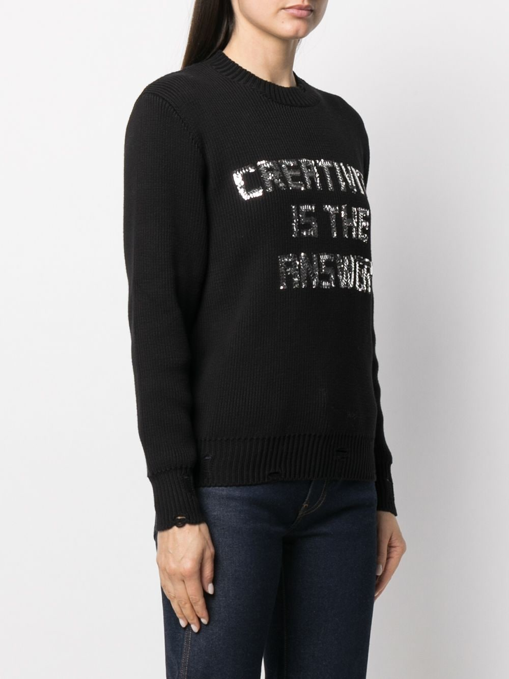 Picture of Golden Goose Deluxe Brand | Sequin-Embellished Jumper