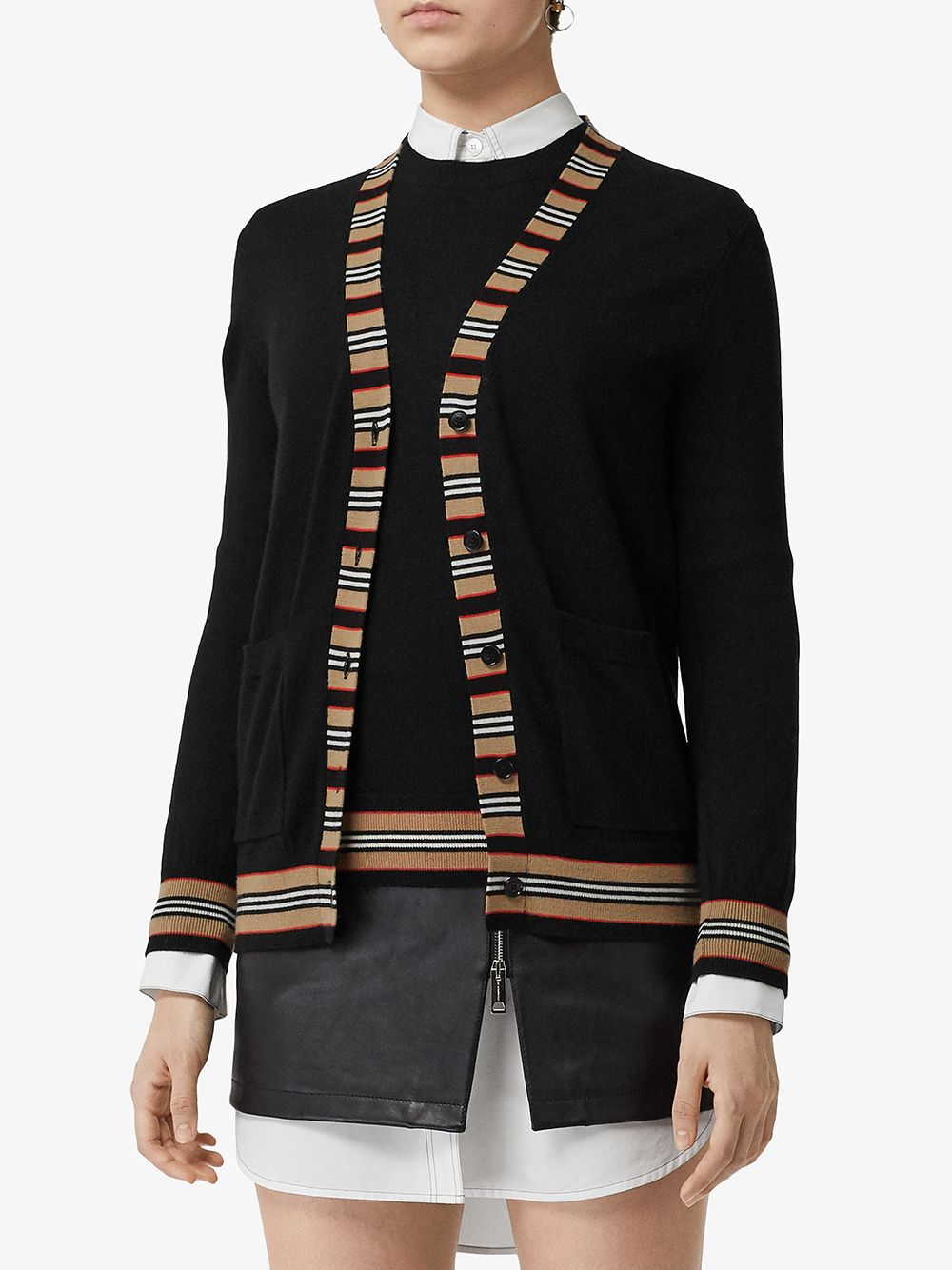 Picture of Burberry | Icon Stripe Cardigan