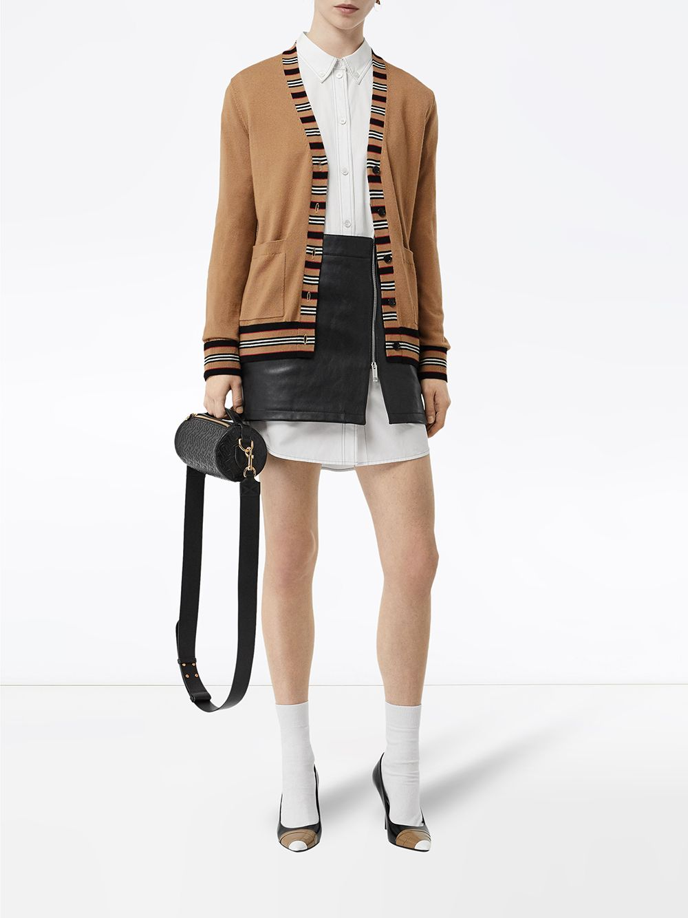 Picture of Burberry   Icon Stripe Detail Cardigan