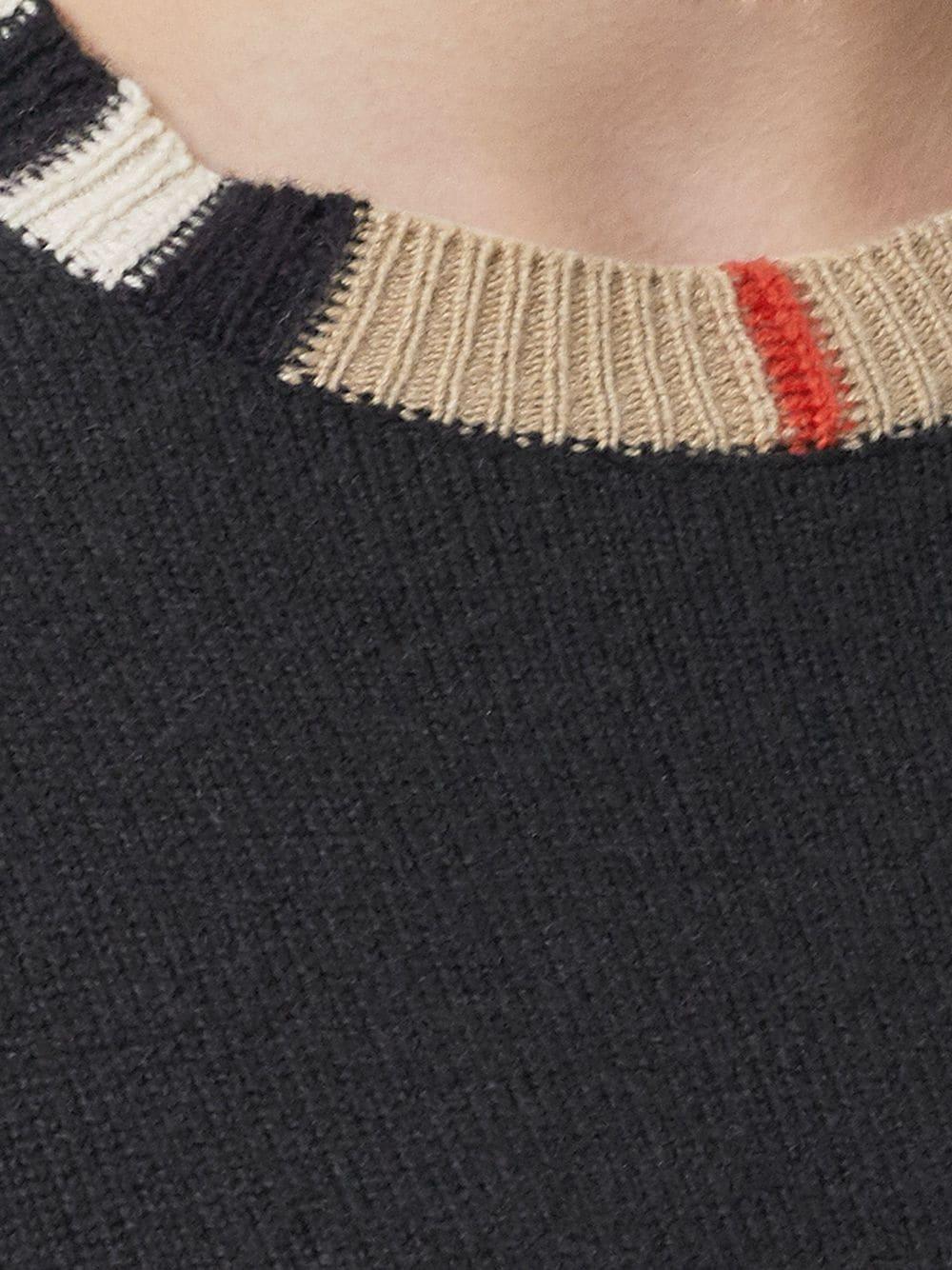 Picture of Burberry | Icon Stripe Trim Jumper
