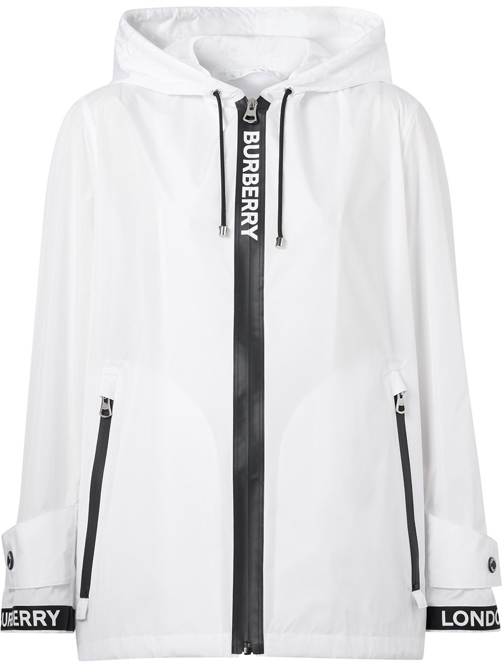 Picture of Burberry | Logo Tape Econyl® Hooded Jacket