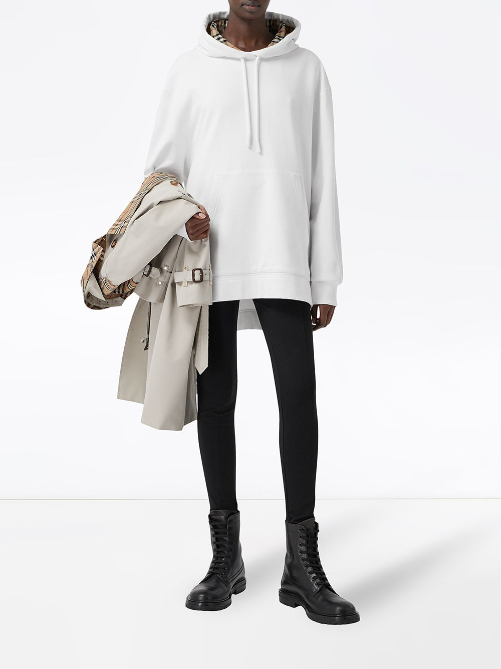 Picture of Burberry | Oversized High-Low Hem Hoodie