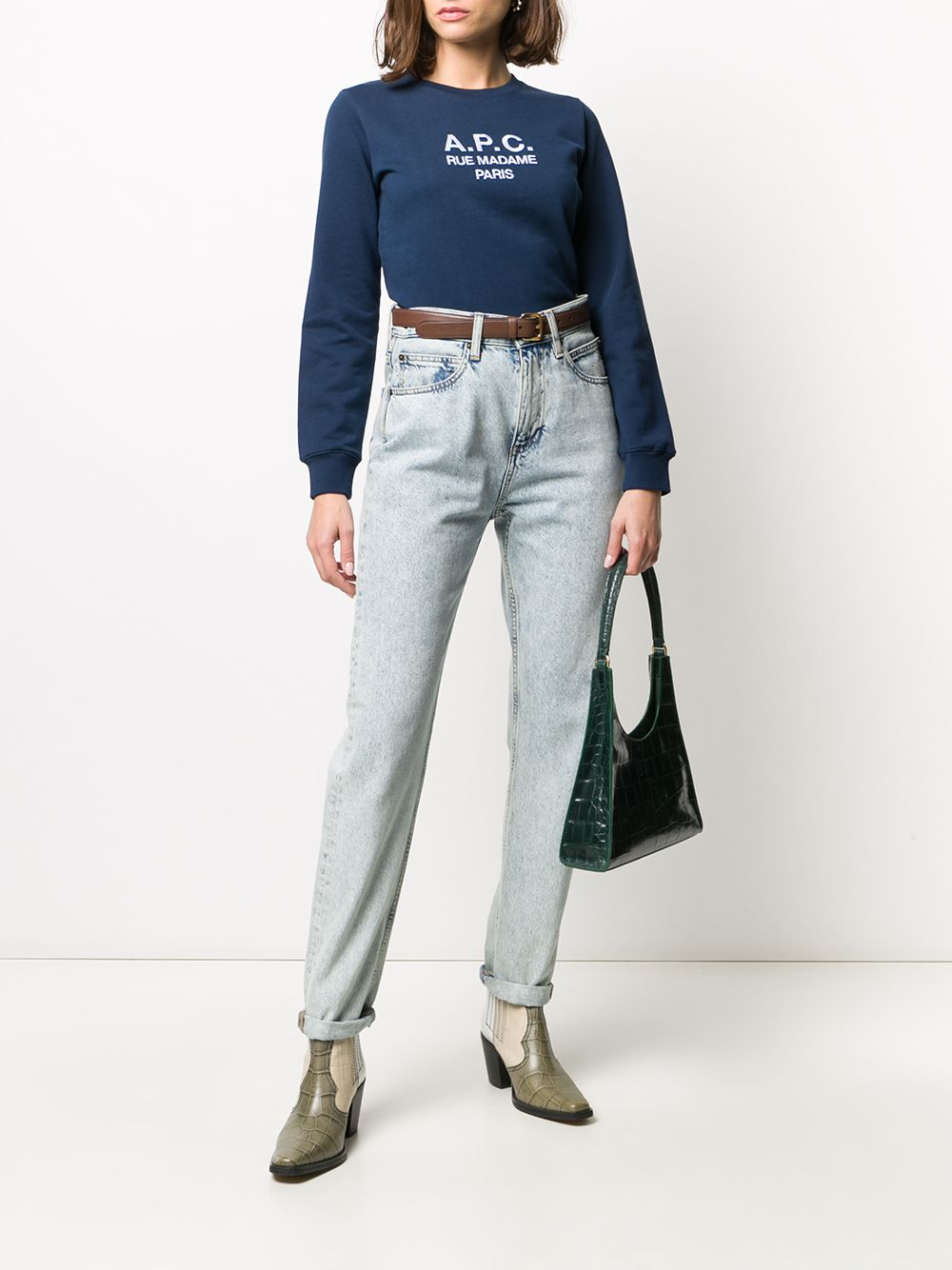 Picture of A.P.C. | Embroidered-Logo Sweatshirt