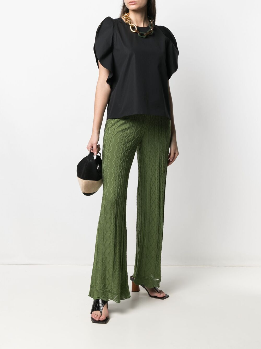 Picture of Aspesi | Slit-Sleeved Cotton Blouse