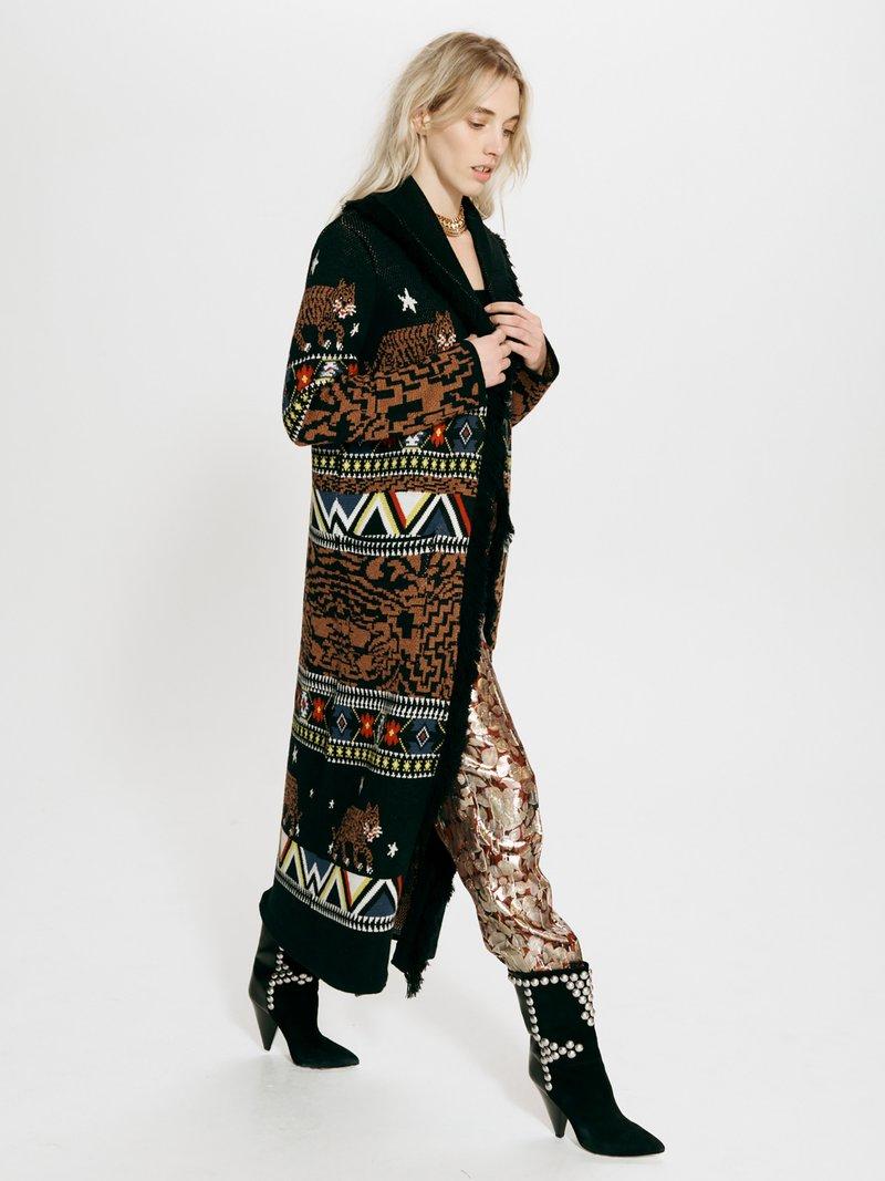 Picture of Hayley Menzies | Portobello Tiger Long Cardigan
