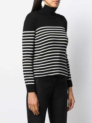 Picture of Saint Laurent | Striped Knitted Jumper