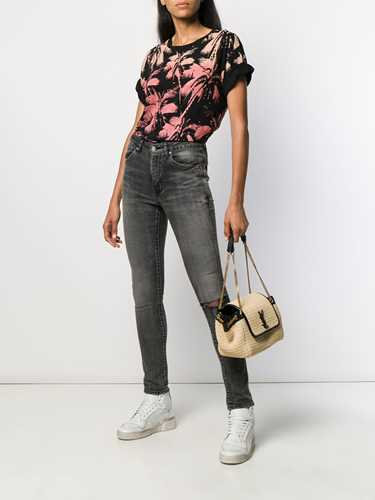Picture of Saint Laurent | Palm Tree Printed T-Shirt