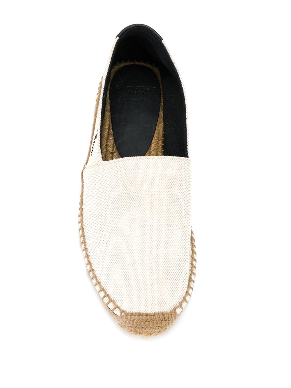 Picture of Saint Laurent | Embroidered Logo Espadrilles