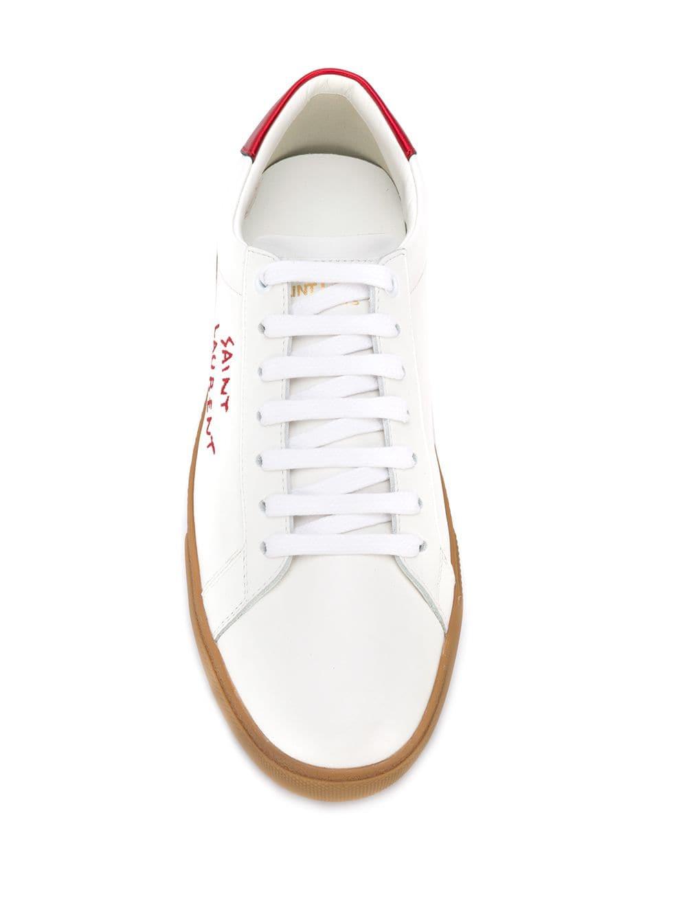 Picture of Saint Laurent | Court Classic Sl 06 Low-Top Sneakers