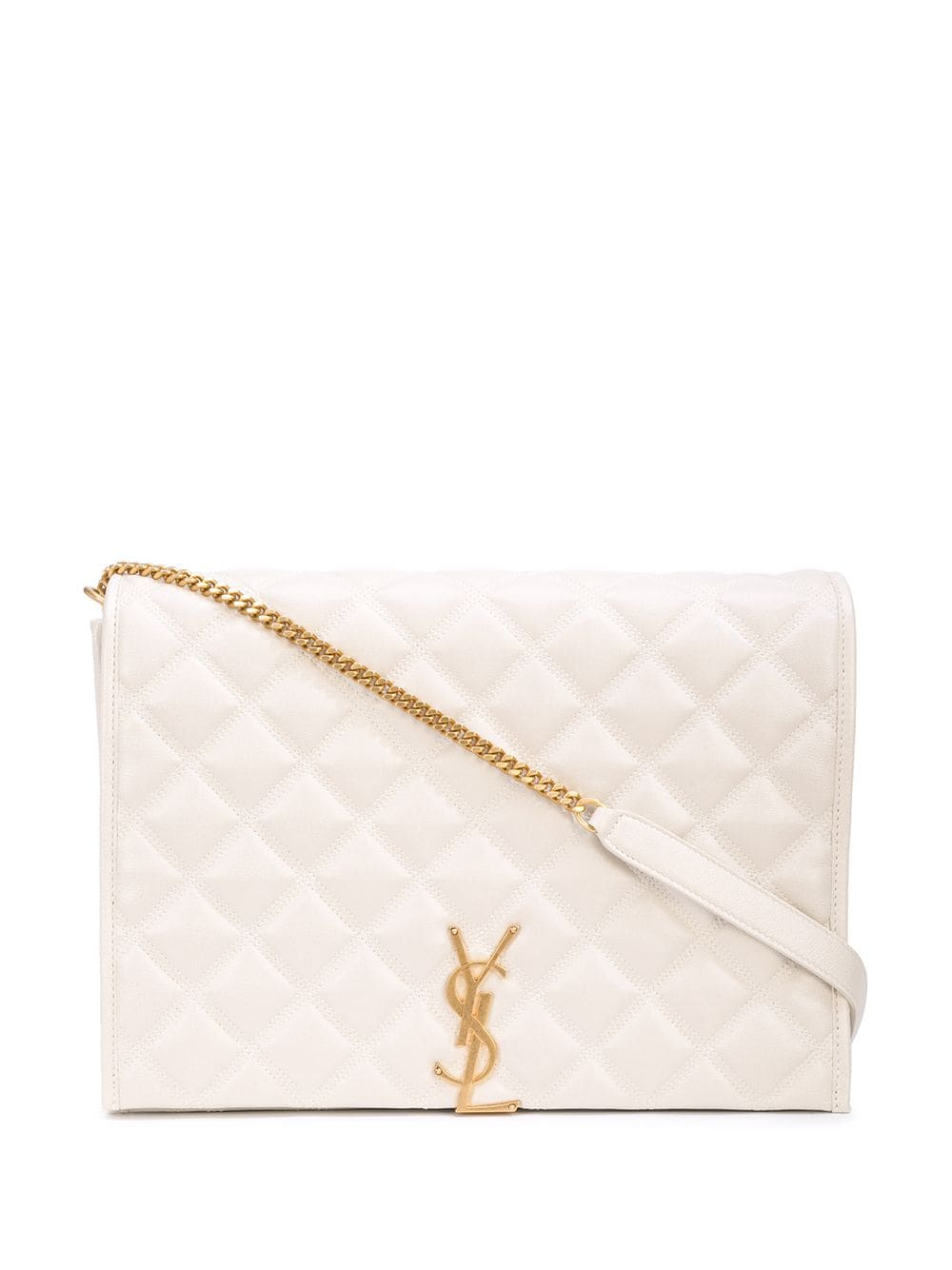 Picture of Saint Laurent | Becky Large Quilted Shoulder Bag