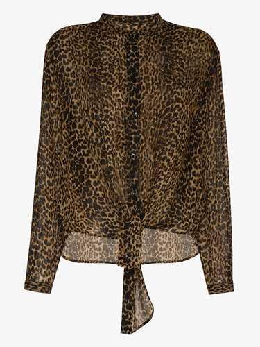 Picture of Saint Laurent | Leopard-Print Wool Shirt