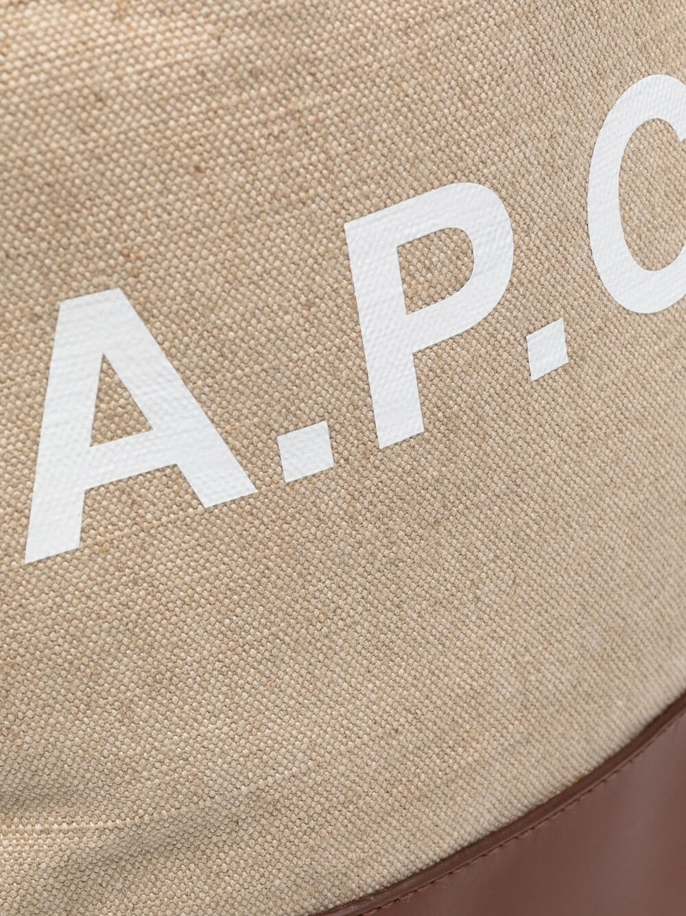 Picture of A.P.C. | Logo-Print Tote Bag